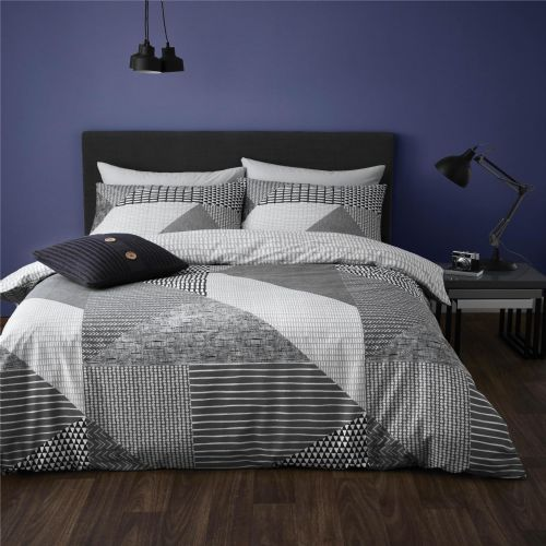 Catherine Lansfield Larsson Geo Grey Bedding Set
